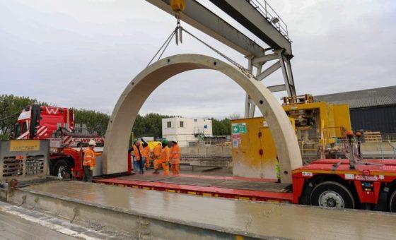 Poundfield Precast manufacture concrete railway arches for Network Rail